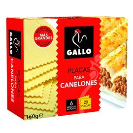 CANELONES GALLO 20 PLACASX 160 GRS.