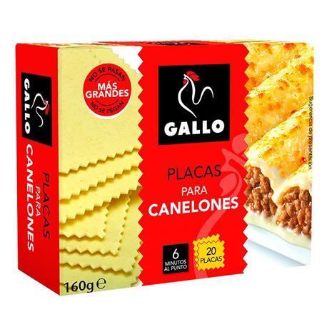 CANELONES GALLO 20 PLACASX 160 GRS.