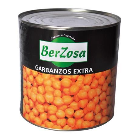 GARBANZO COCIDO BERZOSA LATA 3 KG.