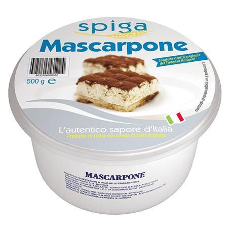 MASCARPONE FRESCO CUBO 500 GR.