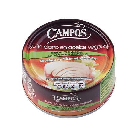 ATUN CLARO ACEITE CAMPOS RO-160 VEG.