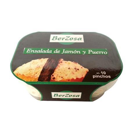 ENSALADILLA PUERRO Y JAMON BERZ. 200 GR.